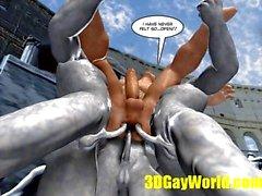 gay ass competition bizarre games 3d cartoon comic