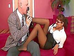 foot fetish fotmassage sekreterare