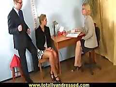 "Sexy blonde secretary gets""interviewed"