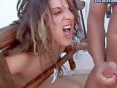 Extreme rough blowjob