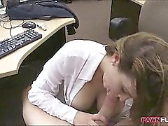Hot and big boobs business lady fucked in the pawnshop