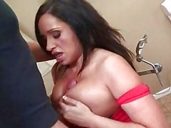 Vannah Sterling rides her horny snatch up and down a rock hard shaft