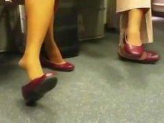 ayaklar naylon çorap külotlu çorap shoeplay