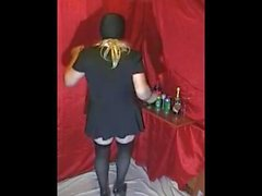 Sissy Dance with Dildo in Mouth