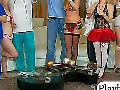 Bunch of swingers swap partners and orgy in the bedroom