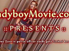 Ladyboy Police Officer Zara Fucked Bareback