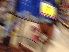 Chinese teen upskirt at the super market.