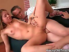 Sexy brunette babes get pounded hard