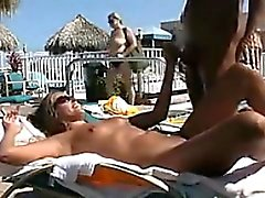 Couple Fucking In Public By The Pool