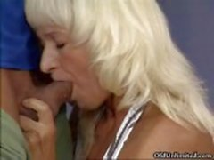 Nasty blonde housewife gets horny part1