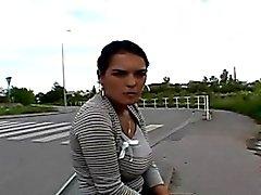 amateur mamada duro al aire libre público