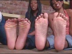 Two Ebonys Foot worship
