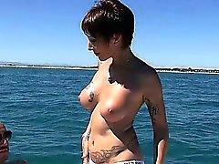 Catalya analfucked on a boat