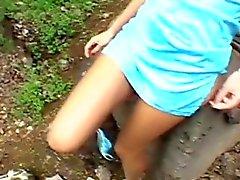 Outdoor vagina loving action