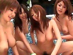 asiatico sesso di gruppo peloso