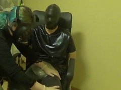 Breathplay Handjob With Mistress