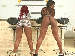 Black lesbians having ass shaking competition