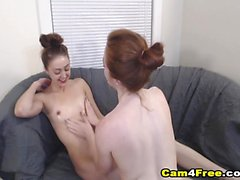 Beautifil Hot Lesbian Playing Each Other Pussy