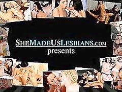 Schoolgirls kissing soon turn into hardcore lesbian fuck