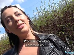 PublicAgent Hot black haired Russian fucked