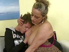 Naughty mature mom fucking not her son