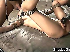 Small Teen Bound Down and Roughly Fucked!