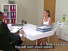 Amateur lesbian sex on casting