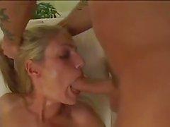 skinny blonde takes big dick
