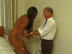 zwart en ebony spanking