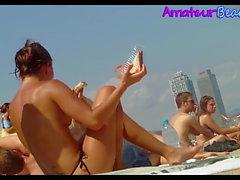 Big Boobs Amateurs Beach Voyeur Video