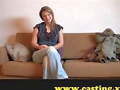 Blonde is on the casting couch and does her best to impress