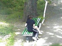 couple masturbation brunette public