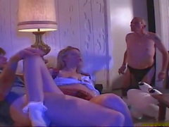 Step Dads Threesome Teen Blonde