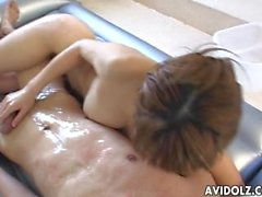Japanese bimbo boned hard in bathroom