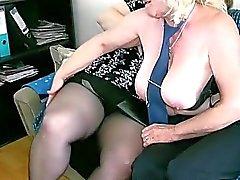 OldNanny Mature with big boobs masturbate
