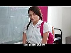 InnocentHigh - School Girl Pressured To Strip and Fuck Teacher