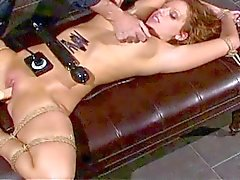 Bondage spanking fucking machine