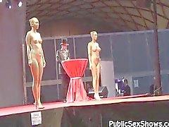 amatör kamu striptizci gösteri