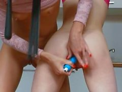 18yo american chicks playing with toys