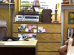 POV bj in pawnshop with nerdy teen
