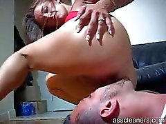 Mistress gets really horny as she gets her ass licked