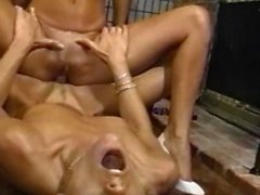 Foursome lesbians strapon fucking and toying their asses