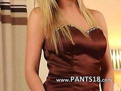 kindje blond lingerie nylon