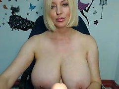 Blonde amateur with massive boobs fucked