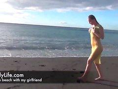 Amateur housewife and swinger on voyeurcam
