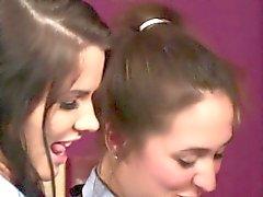Cfnm schoolgirls tugging