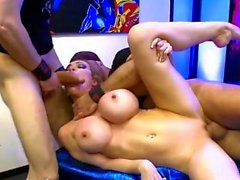 MILF Chessie Kay gets her mouth Full Of Cocks