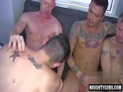 Tattoo gay anal with cumshot