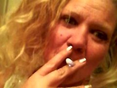 de fumar rubia fetiche bebé