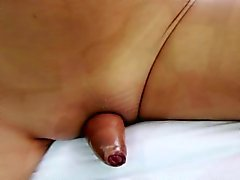 Asian shemale Nun in a solo fuck